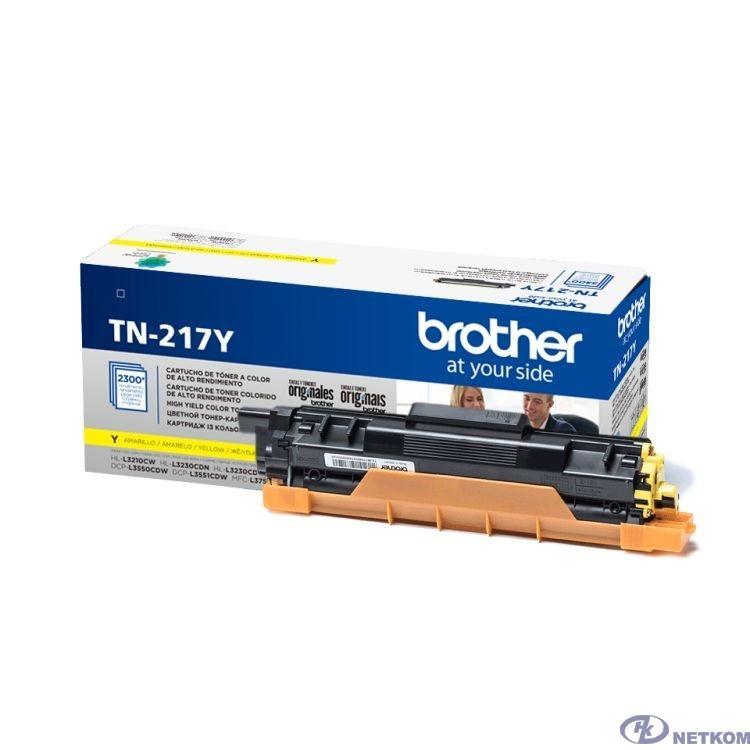Brother Тонер TN-217Y для HLL3230CDW/DCPL3550CDW/MFCL3770CDW жёлтый (2300стр)