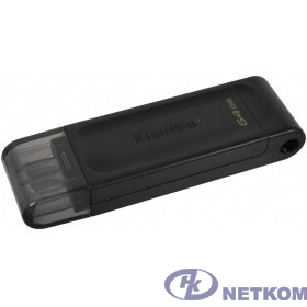 Kingston USB Drive 64Gb DataTraveler 70 DT70/64GB USB3.0 черный