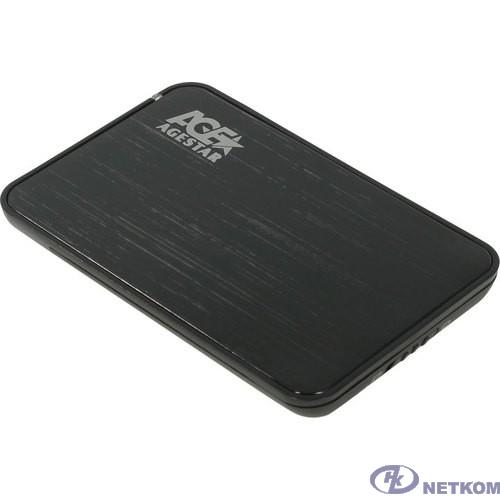 "AgeStar 3UB2A8-6G SATA III Внешний корпус для HDD/SSD пластик/алюминий черный 2.5"""