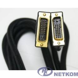 Кабель DVI-D dual link Gembird, 3.0м, 25M/25M, экран, феррит.кольца, пакет [CC-DVI2-10)