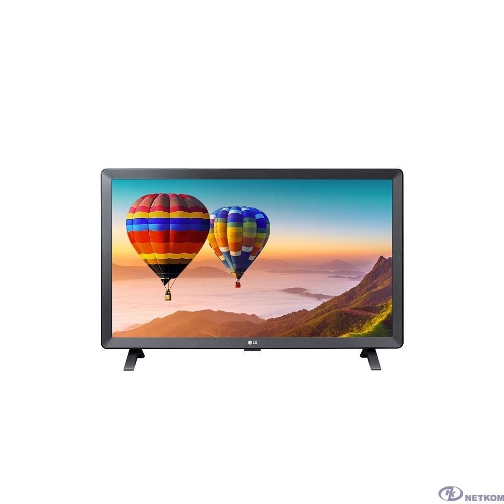 """LG 24"""" 24TN520S-PZ черный-серый/HD READY/50Hz/DVB-T2/DVB-C/DVB-S/DVB-S2/USB/WiFi/Smart TV (RUS)"""