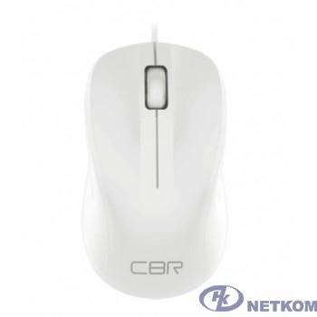 CBR CM 131 White, Мышь проводная, оптическая, USB, 1200 dpi, 3 кнопки и колесо прокрутки, ABS-пластик, длина кабеля 2 м, цвет белый