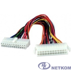 Telecom Удлинитель кабеля питания материнской платы 24M-24F , 20см [EXT-24M-24F-20SM] (6926123461822)