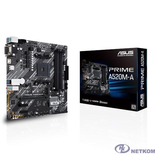 Asus PRIME A520M-A RTL {Soc-AM4 AMD A520 4xDDR4 mATX AC`97 8ch(7.1) GbLAN RAID+VGA+DVI+HDMI}