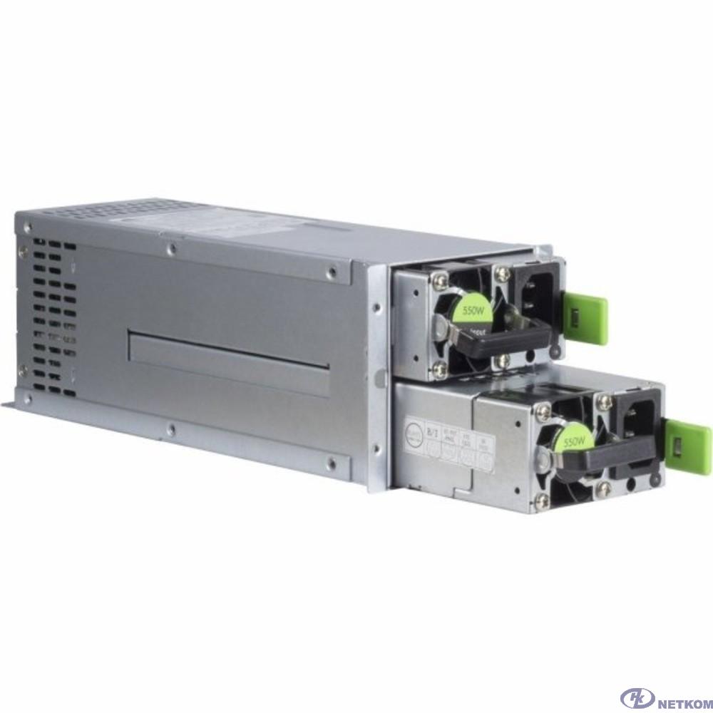 Блок питания 550W 2U Reduntant (1+1) Power Supply [R2A-DV0550-N]