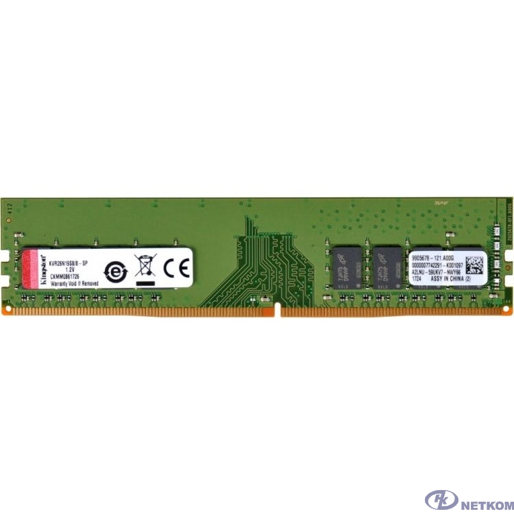 Kingston DDR4 DIMM 16GB KVR29N21S8/16 PC4-23400, 2933MHz, CL21