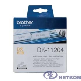 Brother DK11204 Универсальные наклейки 17 x 54 мм, 400 наклеек в рулоне