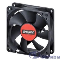 Exegate EX283378RUS Вентилятор ExeGate E08025B4P-PWM, 80x80x25 мм, двойной шарикоподшипник, 4pin, PWM, 22dBA