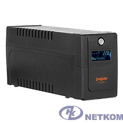 Exegate EP285566RUS ИБП ExeGate Power Smart ULB-600.LCD.AVR.C13 <600VA/360W, LCD, AVR, 4*IEC-C13, Black>