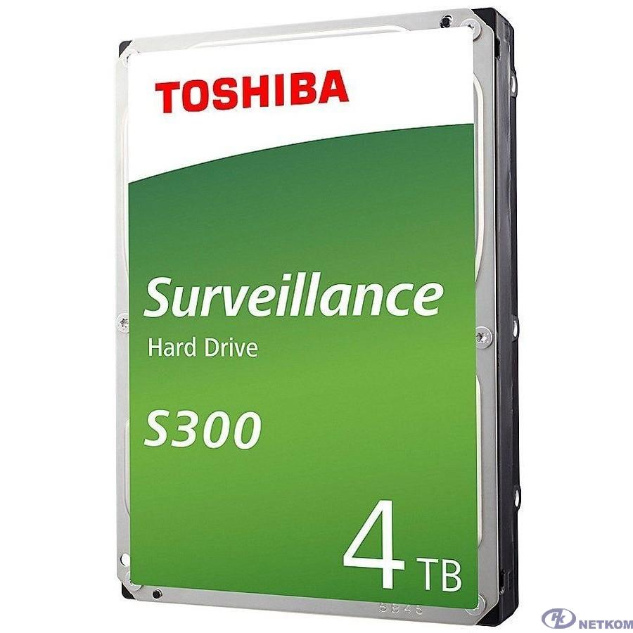 """4TB Toshiba Surveillance S300 (HDWT740UZSVA/HDKPB02Z0A01F) {SATA 6.0Gb/s, 5400 rpm, 128Mb buffer, 3.5"""" для видеонаблюдения}"""