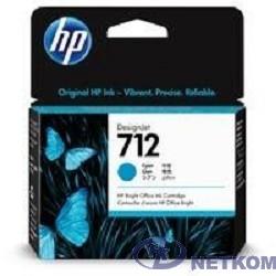 Картридж струйный HP 712 3ED67A голубой (29мл) для HP DJ Т230/630