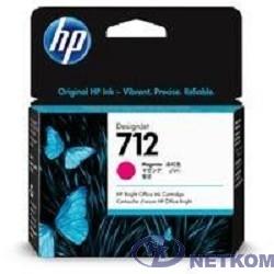 Картридж струйный HP 712 3ED68A пурпурный (29мл) для HP DJ Т230/630