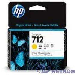 Картридж струйный HP 712 3ED69A желтый (29мл) для HP DJ Т230/630