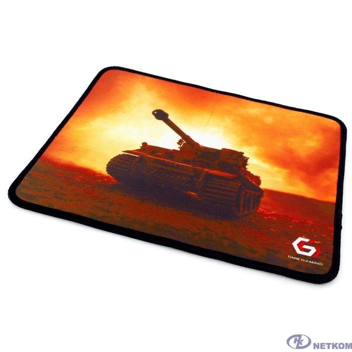 "Коврик для мыши Gembird MP-GAME33, рисунок- ""танк"", размеры 250*200*3мм, ткань+резина, оверлок"