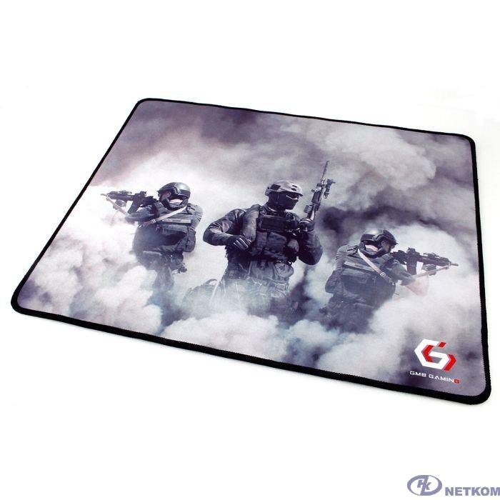 "Коврик для мыши Gembird MP-GAME35, рисунок- ""солдаты"", размеры 437*350*3мм, ткань+резина, оверлок"