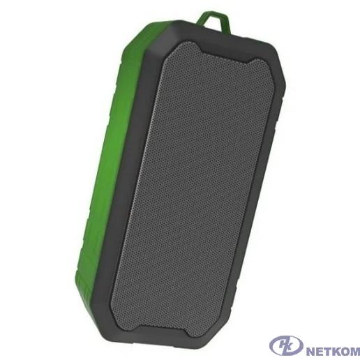 RITMIX SP-350B green {5 Вт, 40 мм 4 Ом, Bluetooth: 4.2, FM-радио, AUX, USB, microSD, IP5, 1200 мАч, microUSB DC 5В 1A, пластик, зеленый}