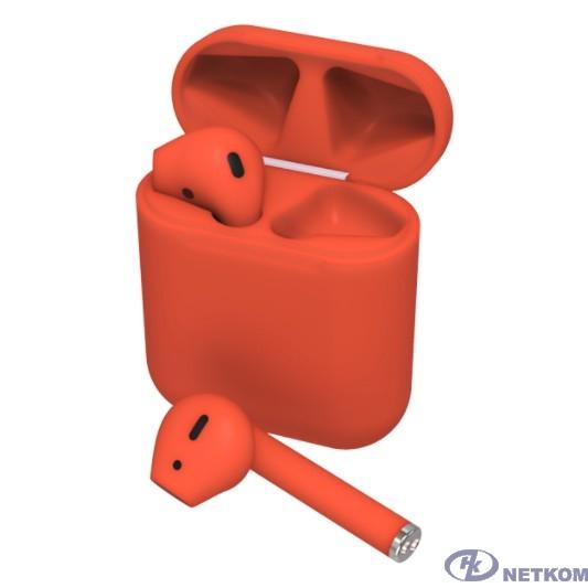 RITMIX RH-825BTH TWS red {Bluetooth 5.0 + EDR, сенсорное управление, 12 мм, 20-20000 Гц, 32 Ом, 35 мАч (наушники), 350 мАч}