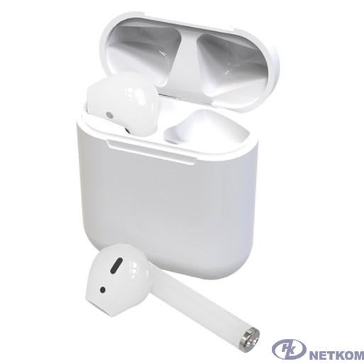 RITMIX RH-825BTH TWS white {Bluetooth 5.0 + EDR, сенсорное управление, 12 мм, 20-20000 Гц, 32 Ом, 35 мАч (наушники), 350 мАч }