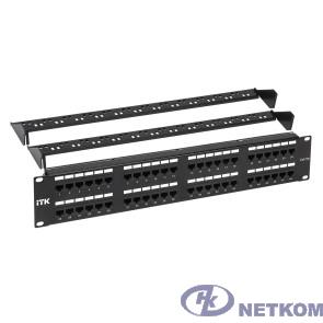 Itk PP48-2UC5EU-D05-1  2U патч-панель кат. 5Е UTP 48 портов (Dual) с каб. орг-м