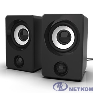 RITMIX SP-2058 Black {6 Вт (2*3 Вт), 50 мм, USB, jack 3.5 мм, 130-18000 Гц, рег. громкости, пластик, 66*65*99 мм, пластик, черный}