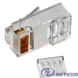 Коннектор UTP RJ45 под однож. кабель (с вставкой), Кат.5 (1шт.) [P88RB03V2I-1]