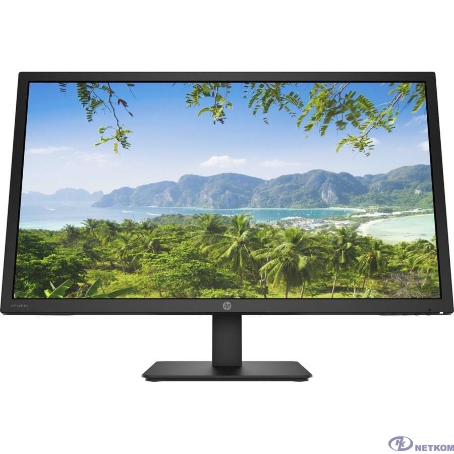 """LCD HP 27.9"""" V28 черный {TN 3840x2160 60hz 1ms 16:9 300cd 170/160  2xHDMI2.0 DisplayPort1.2 3xUSB3.2 AudioOut 2x3W VESA} [8WH58AA#ABB]"""