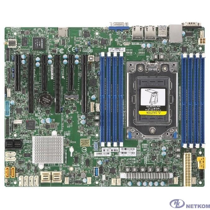 SuperMicro MBD-H11SSL-I-B {ATX Socket SP3 Single AMD EPYC 7000, up to 1TB DDR4 Reg ECC 2666MHz memory in 8 DIMM slots, 16 SATA3, 1 M.2, 2x Gb LAN ports, IPMI 2.0 + KVM} OEM