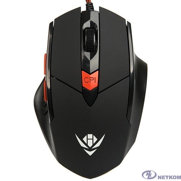 Мышь Dialog MOG-11U Nakatomi Gaming - 6 кнопок + ролик, USB ,черная