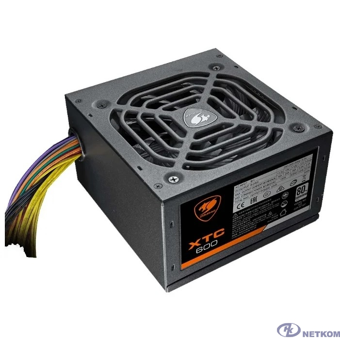 Cougar XTC 600 Блок питания Cougar XTC 600 (Разъем PCIe-2шт,ATX v2.31, 600W, Active PFC, 120mm Fan, Power cord, 80 Plus, Japanese standby capacitors) [XTC600] BULK