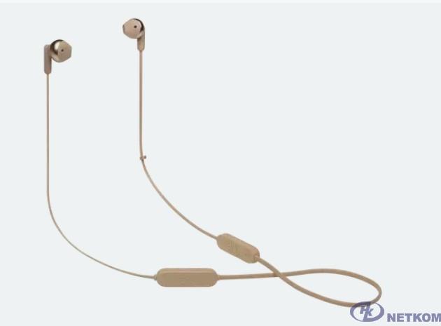 Гарнитура вкладыши JBL T215BTC золотистый беспроводные bluetooth шейный обод (JBLT215BTCGD)