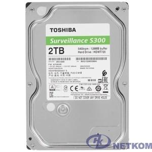 """2TB Toshiba Surveillance S300 (HDWT720UZSVA/HDKPB04Z0A01) {SATA 6.0Gb/s, 5400 rpm, 128Mb buffer, 3.5"""" для видеонаблюдения}"""
