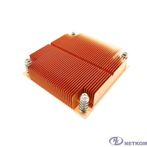 Exegate EX286164RUS Радиатор для процессора ExeGate ESNK-0046.1U.115x.Cu (Медный, LGA1150/1151/1155/1156/1200, TDP 100W, 435г, на винтах, с термопастой, Retail box)
