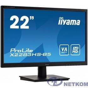 IIYAMA 21.5'' X2283HS-B5 {VA 1920х1080 250cd 178/178 3000:1 4ms D-Sub HDMI DisplayPort Tilt 2x1W Audioout}