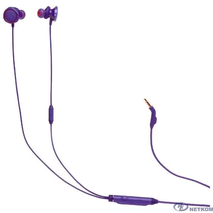 Наушники с микрофоном JBL Quantum 50 фиолетовый 1м вкладыши в ушной раковине (JBLQUANTUM50PUR)