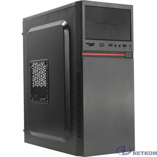 Exegate EX286446RUS Корпус Miditower ExeGate AA-329-500W-8 (ATX, БП AA500 с вент. 8см, 2*USB, HD аудио, черный)