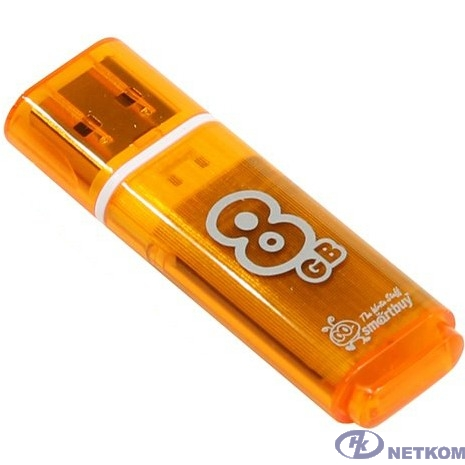 Smartbuy USB Drive 8Gb Glossy series Orange SB8GBGS-Or