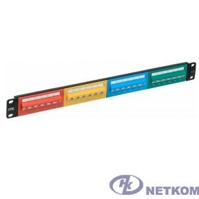 ITK PP24-1UC5EU-D05D 1U патч-панель кат. 5е UTP 24 угл. пт. 45 град. Dual IDC