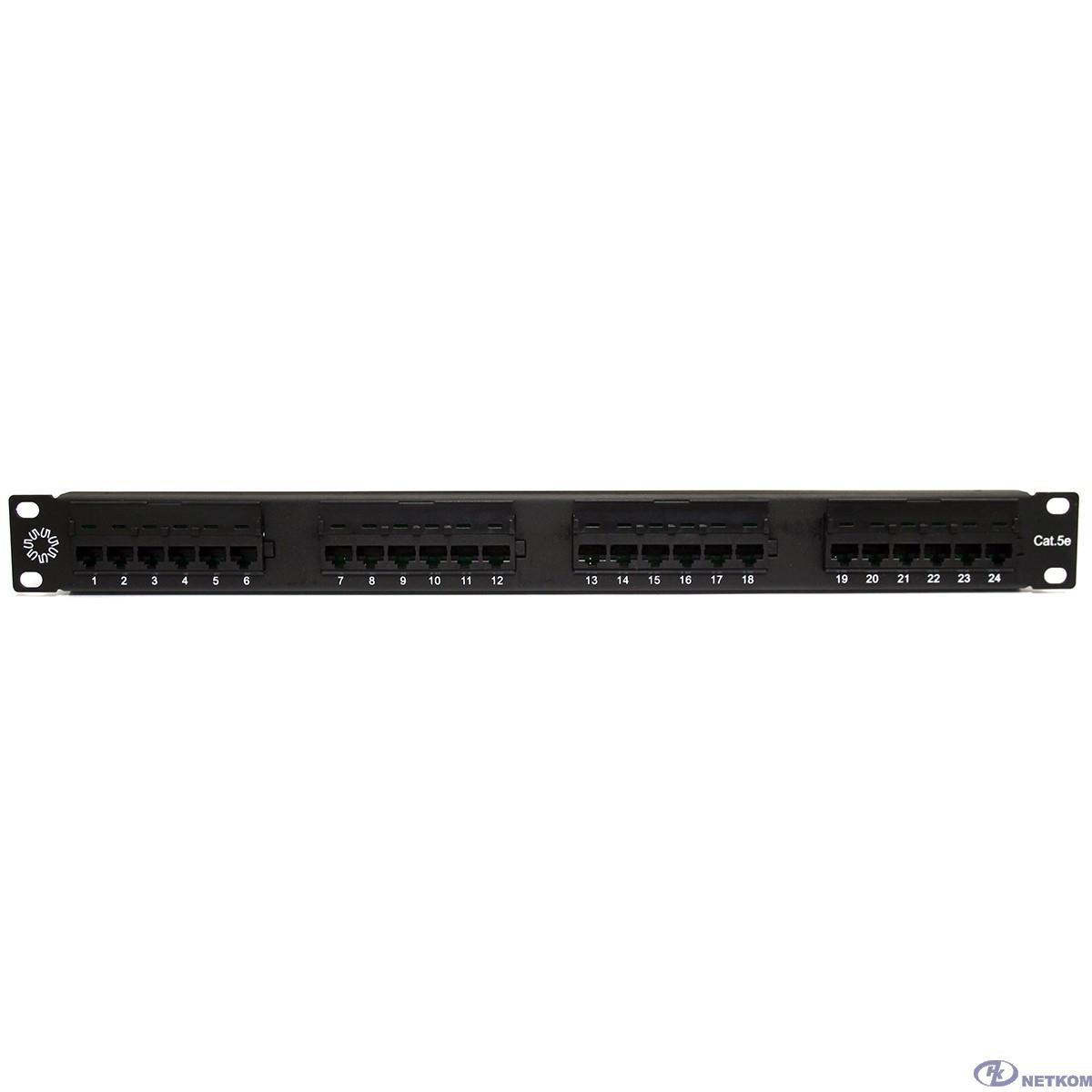 "5bites PPU55-01 Патч-панель UTP / 5E / 24P / KRONE / 110 / DUAL IDC / 1U / 19"""