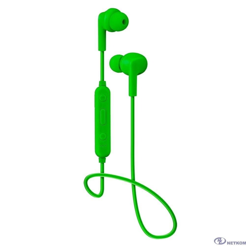 Perfeo BT наушники внутриканальные с микрофоном TYRO зелёные  [PF_B4023]