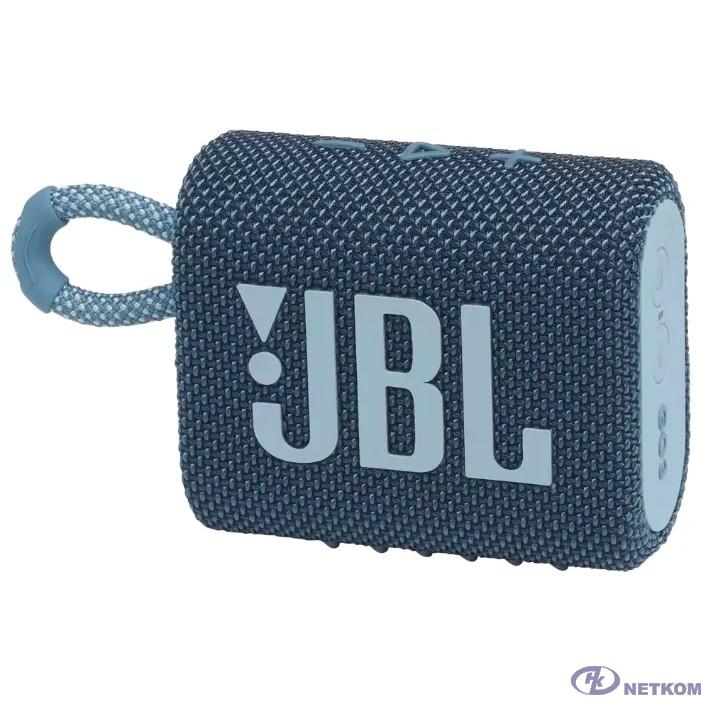 Динамик JBL Портативная акустическая система JBL GO 3 синяя [JBLGO3BLU]
