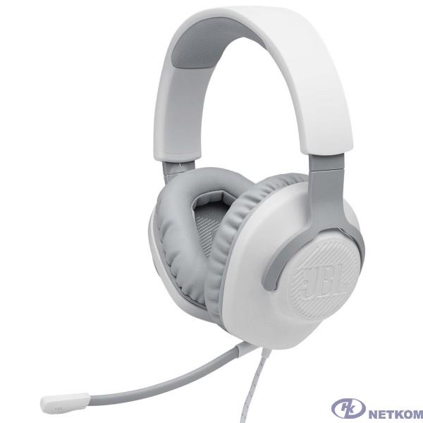 Наушники с микрофоном JBL Quantum 100 белый 1.2м мониторные оголовье (JBLQUANTUM100WHT)