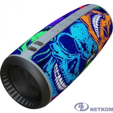 "Perfeo Bluetooth-колонка ""SKULLS"" FM, microSD, USB, AUX, мощность 12Вт, 2600mAh, граффити черепа [PF_A4978]"
