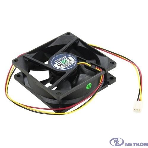 Вентилятор для корпуса TITAN <DCF-8025L12S> (80x80x25mm 3pin 23dB)