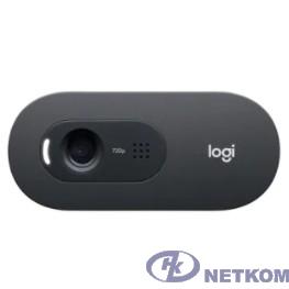 960-001364 Logitech HD WebCam C505 Black { USB 2.0, 1280*720, 1Mpix foto, Mic, Black}