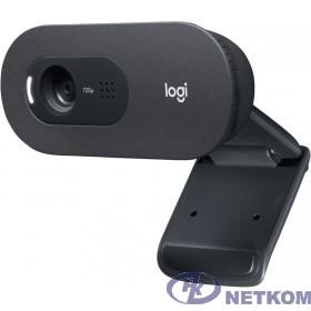 960-001372 Logitech HD WebCam C505e { USB 2.0, 1280*720, 2Mpix foto, Mic, Black}