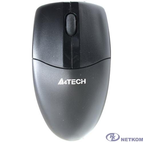 Мышь A4Tech V-Track G3-220N черный оптическая (1000dpi) беспроводная USB для ноутбука (3but)