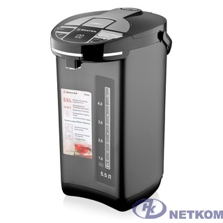 BRAYER 1091BR Термопот,1450 Вт, 5,5 л, 2 спос.подач.воды, LCD-дисп, поддерж.темпер,блокировка