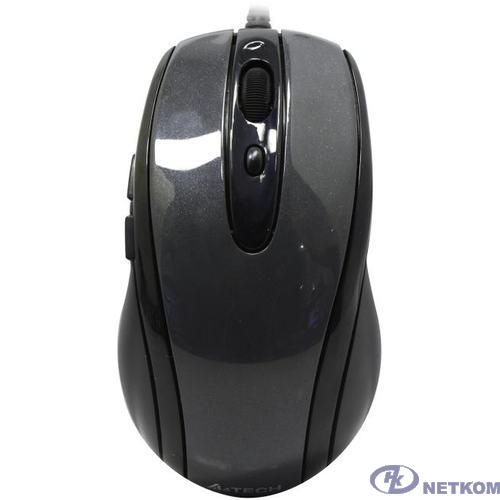 Мышь A4TECH V-Track Padless N-708X серый оптическая (1600dpi) USB (6but) [603731]