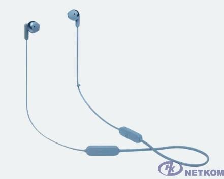 Гарнитура вкладыши JBL T215BTC синий беспроводные bluetooth шейный обод (JBLT215BTBLU)