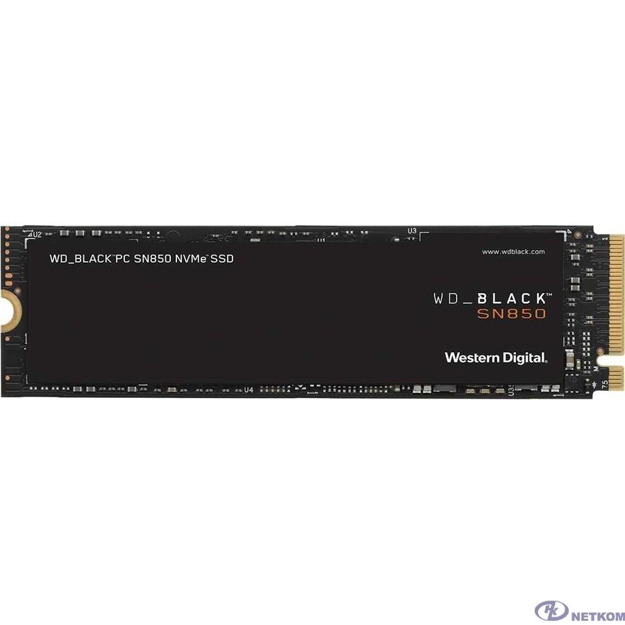 Накопитель твердотельный WD Твердотельный накопитель SSD WD_BLACKSN850 WDS100T1X0E 1ТБ M2.2280 NVMe PCIe Gen4х4(без радиатора)